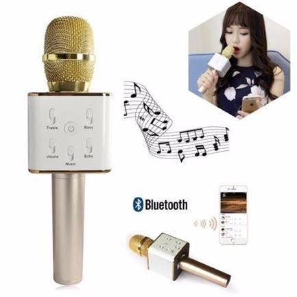 Hình ảnh củaMicro Karaoke Bluetooth Q7 (gold)