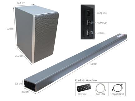 Hình ảnh củaDàn Loa âm thanh Soundbar LG 4.1 SH8 420W